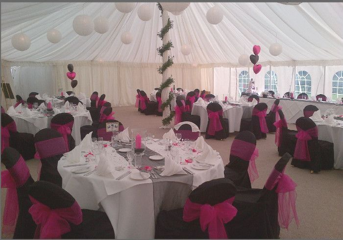 The marquee at Prested Hall wedding venue near Colchester in Essex